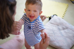 Laughing Baby on Exercise Time