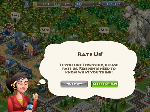 Township Rate Us: screenshots, UI