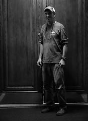 Minooka, IL - 5DS - Sept 2016 - 089 (Andre's Street Photography) Tags: minookail5dssept2016 minooka illinois stmarys church interior caretaker portrait dark streetportrait candid straatportret blackandwhite bwphotography zwartwit noiretblanc blancoynegro zwartwitfotografie 5ds eos canon