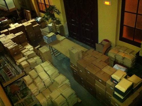 3.000 llibres preparats per regalar per l'Ajuntament de Gelida... En plena crisi!