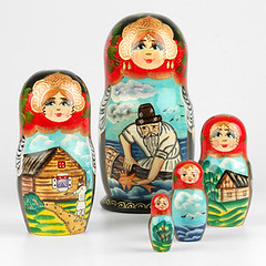 Fisherman and Gold Fish Russian Doll (The Russian Store) Tags: matrioshka matryoshka russiannestingdolls  stackingdoll  russianstore  russiangifts  russiancollectibledolls shoprussian