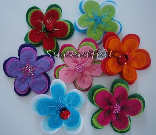 ♥♥♥ A Primavera está a chegar e as pregadeiras também!!! by sweetfelt \ ideias em feltro