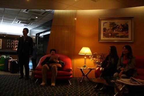 バングラデシュのワシントンホテルで受付中