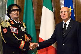 Gheddafi-Napolitano