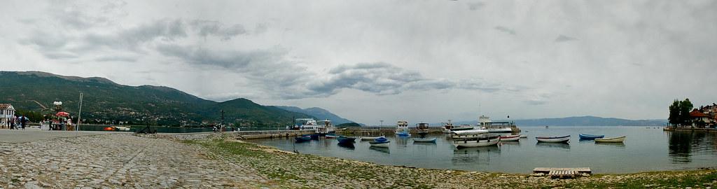 Panorama of lake Ohrid, Macedonia