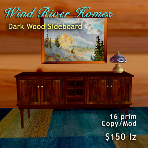 Sideboard v1- dark wood by Teal Freenote