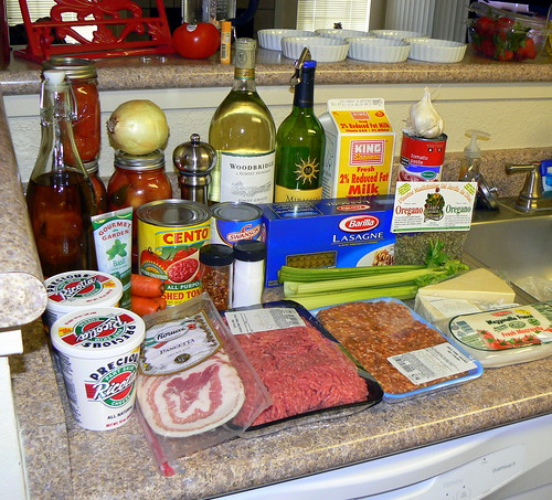 fixings for Lasagna