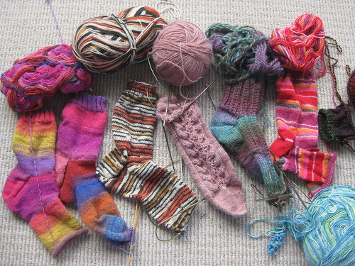 unfinished socks