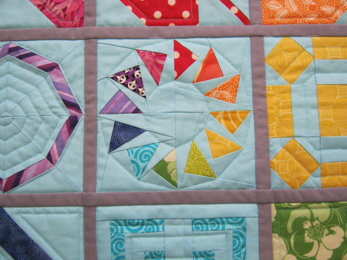 DQS10 Quilting Closeup