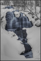 Waterfall at Blueberry Hill (jimhelge) Tags: winter white snow black water norway photoshop canon norge waterfall long exposure artistic sandnessjen blbrhaugen eos550d