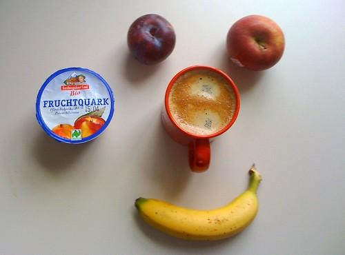 Fruchtquark, Pflaume, Banane & Braeburn