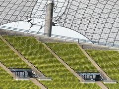 Olympiastadion München (duqueıros) Tags: roof green architecture composition germany munich münchen bayern deutschland bavaria construction europa europe pattern stadium sears olympia architektur grün stadion dach allemagne muster germania olympiastadion konstruktion sitze fussballstadion abigfave olympiastadionmünchen duqueiros mygearandme