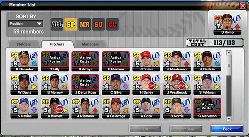 MLBMO starting pitchers