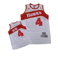 Atlanta Hawks #4 Spud Webb White Throwback Jersey (Terasa2008) Tags: jersey atlantahawks  cheapjerseyswholesale cheapmlbjerseys mlbjerseysfromchina mlbjerseysforsale cheapatlantahawksjerseys