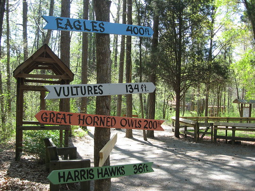 Signs at Carolina Raptor Center
