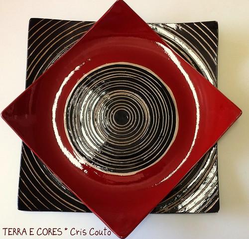 Pratos quadrados by cris couto 73