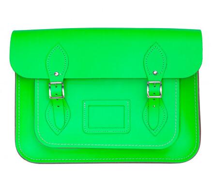 Cambridge Satchel fluorescent green