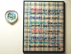 dinner du jour (sevenworlds16) Tags: home kitchen dinner menu diy board planning dryerase