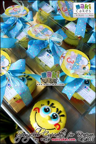 Spongebob Cupcakes for Benezra - Maki Cakes