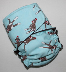 Sock Monkeys on Blue Skinny Britches AI2