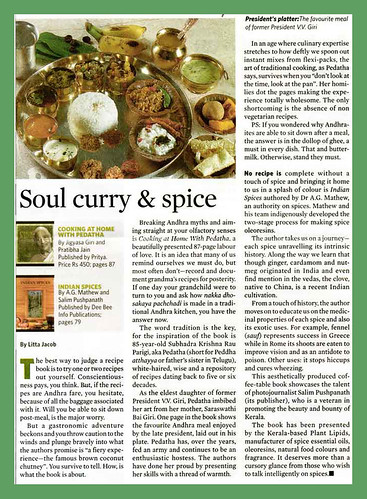 Indian spice & soul curry says The Week