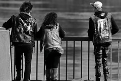 Family Outing (Ian Sane) Tags: park street bridge family white black rose festival tom oregon river portland ian photography punk downtown waterfront candid salmon headquarters governor fountains hawthorne willamette rock