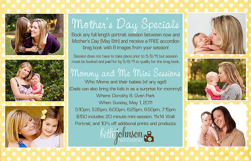 tallahassee mothers day special sale and mommy and me mini sessions
