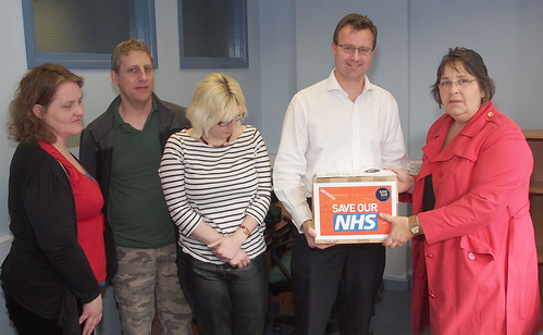 NHS petition hand-in North Warwickshire
