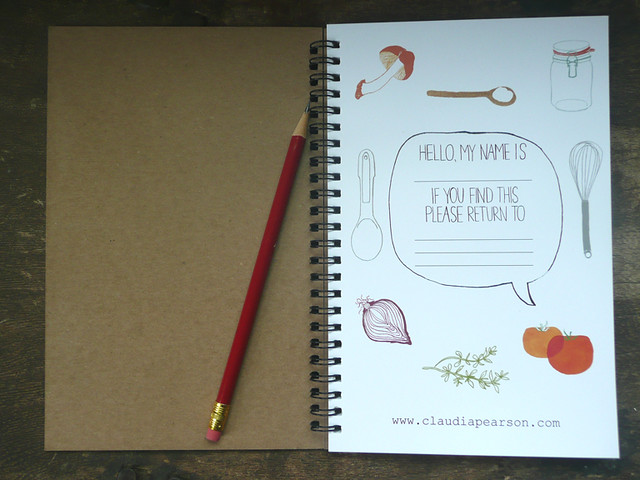 Favorite Food Journal inside