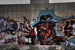 Freddy Krueger (Iñaki Couceiro) Tags: españa abandoned industry canon pared graffiti spain mural paint industrial grafiti country sigma alava 1020 industria basque vasco hdr euskadi fabrica pintura vitoria pais slaughterhouse krueger gasteiz abandonado matadero inundado awash poligono manufactures 400d jundiz frcensorleddy