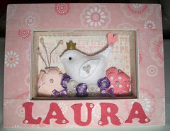{PRINCESS LAURA } (CANELA COOL by CAROL) Tags: flower bird scrapbook princess flor passarinho pssaro quadro princesa scrap decorao quadrodematernidade scrapdecor