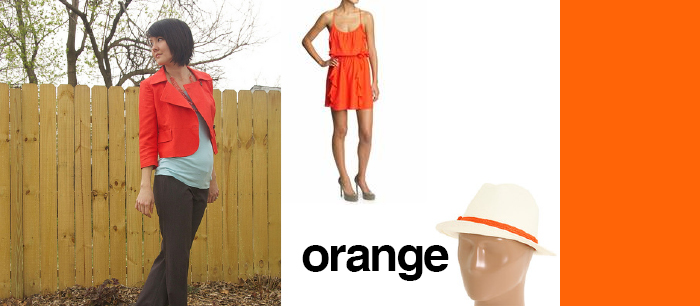 dash dot dotty style blog spring trends orange orange? orange! jackets kate spade hat
