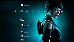 Free Tron Legacy PS3 Theme Preview