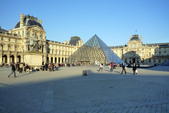 I.M. Pei's Pyramide du Louvre in the Palais du Louvre's Cour Napoléon