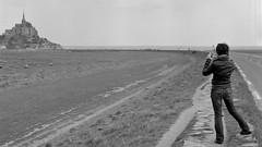(thetzar) Tags: blackandwhite france film mediumformat landscape montsaintmichel ilforddelta100 touristshots bronicasqa epsonv700 selfscans