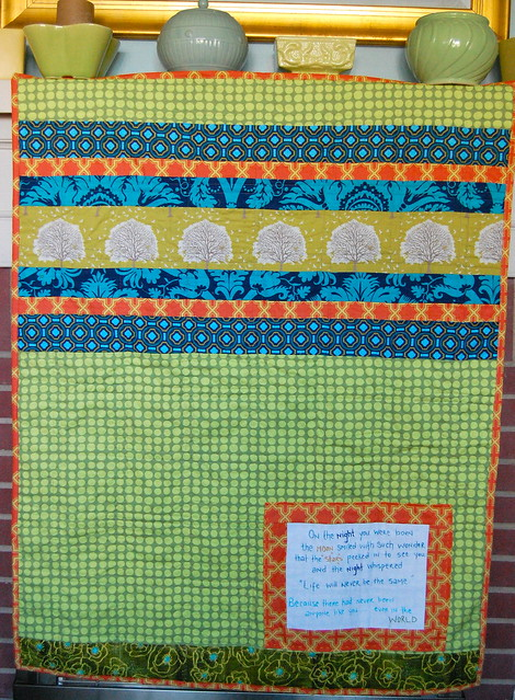 Handsome Baby Boy Quilt Back