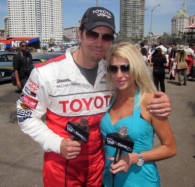 Michael Trucco, Jennifer Lexon, Toyota Grand Prix Celebrity Race 2011