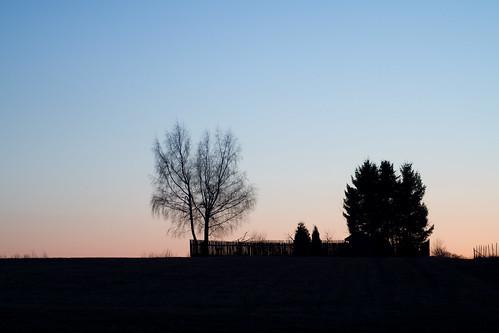 Blaue Stunde am Abend - Experiment Retusche