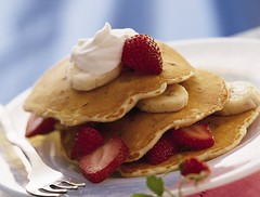 Chocolate Chip-Banana Pancakes Recipe (Betty Crocker Recipes) Tags: pancakes breakfast recipe chocolate strawberries fork banana whippedcream maplesyrup goldmedal bettycrocker generalmills bananapancakes chocolatechippancakes mothersdaybreakfast brunchrecipe chocolatechipbananapancakesrecipe