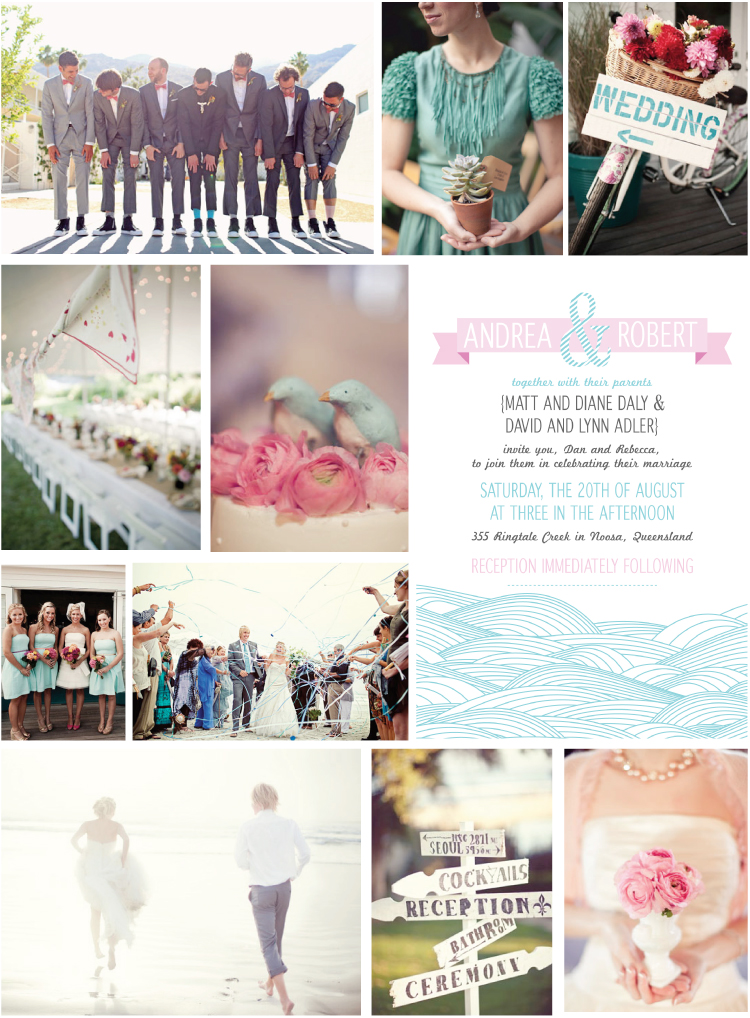 Noosa Wedding Invitation