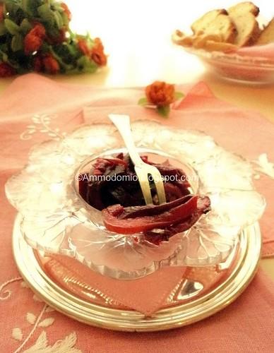 Tartare di alici marinate con rape rosse e peperoni