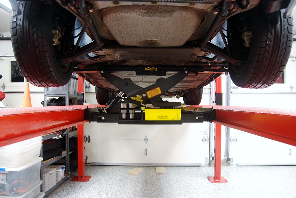using jackstands with my four post lift pelican parts technical bbs