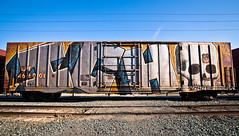 Ichabod (Jeffrey-Anthony) Tags: graffiti trains fav20 bayarea eastbay ich fav15 ichabod freights fav10 fav5 benched jeffreyanthony benchedtrains