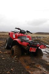 Quicksand (Lauren Bansemer) Tags: iceland mud stuck quad atv fourwheeler quicksand borgarnes litlabrekka