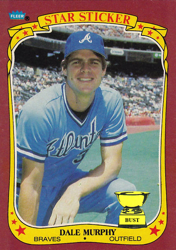 Baseball Card Bust Dale Murphy 1986 Fleer Sticker