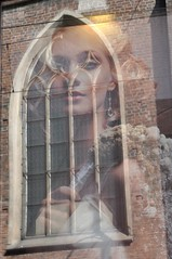 Gothic Beauty (bazylek100) Tags: woman reflection church window girl architecture gothic poland polska krakw cracow holytrinity okno koci refleks architektura gotyk odbicie dominicans krakoff dominikanie dominikanw