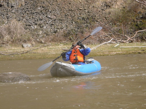 Jeff kayaking the Powder River
