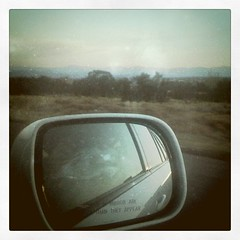 headed home (Kerderv) Tags: santa mountains green art square mirror driving squareformat thinking fe apollo pondering introspective bluish iphoneography instagramapp uploaded:by=instagram