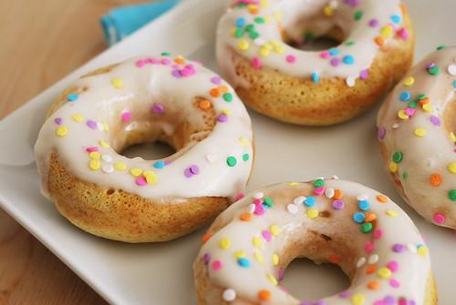 Baked Vanilla Doughnuts Fake Ginger