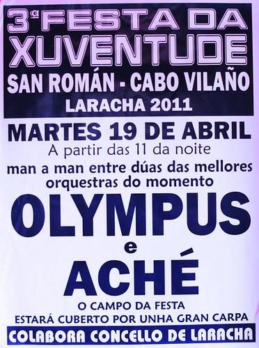 A Laracha 2011 - Festa da Xuventude en San Román - cartel
